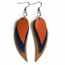 Load image into Gallery viewer, Spring '19 Crescent Leaf Earrings