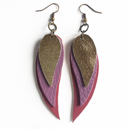 Spring '19 Crescent Leaf Earrings