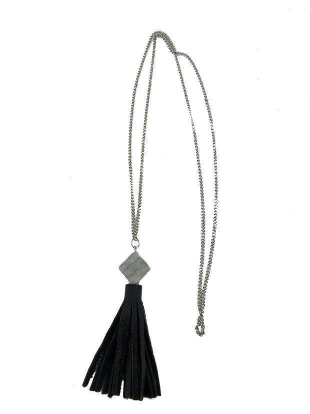 Stone Tassel Necklace 1