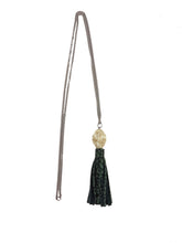 Load image into Gallery viewer, Stone Tassel Necklace