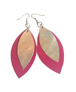 Dainty Two Leaf Earrings