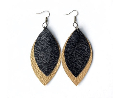 Two Leaf Earrings