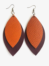 Load image into Gallery viewer, Two Leaf Earrings