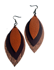 Signature Three Leaf Earrings