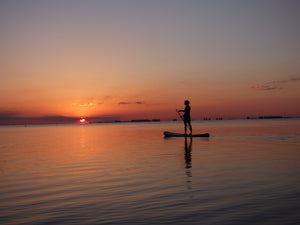 Paddle boarding at sunrise, Red Snapper Sports, Inflatable SUPS