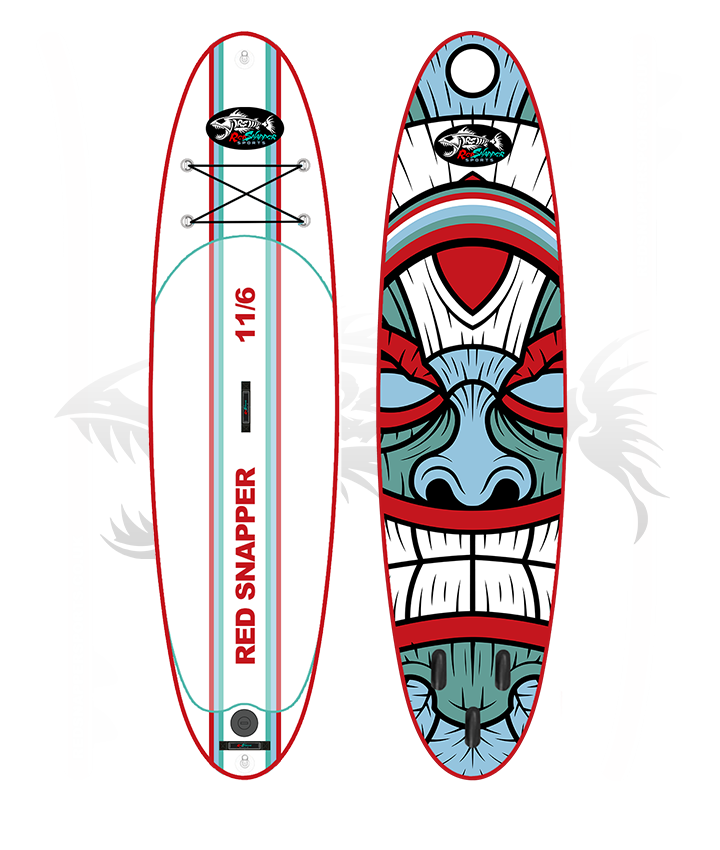 The Red Snapper Sports 11'6 Inflatable SUP. UK paddle boards and surf shop.