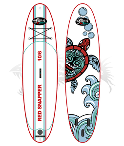 The brand new 2019 edition 10'6 inflatable SUP from Red Snapper Sports