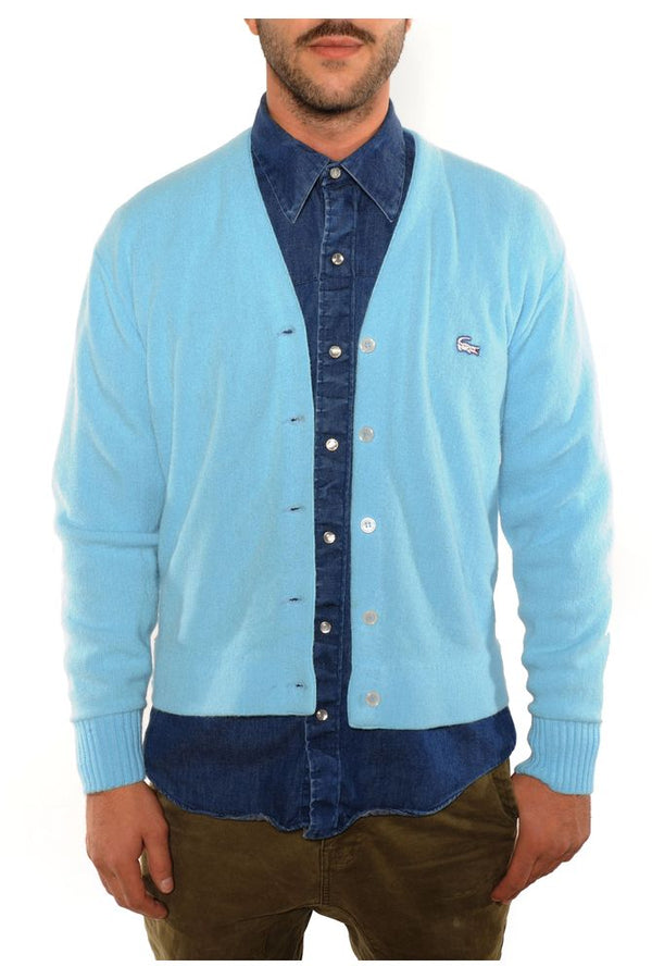 Light Blue Lacoste Cardigan