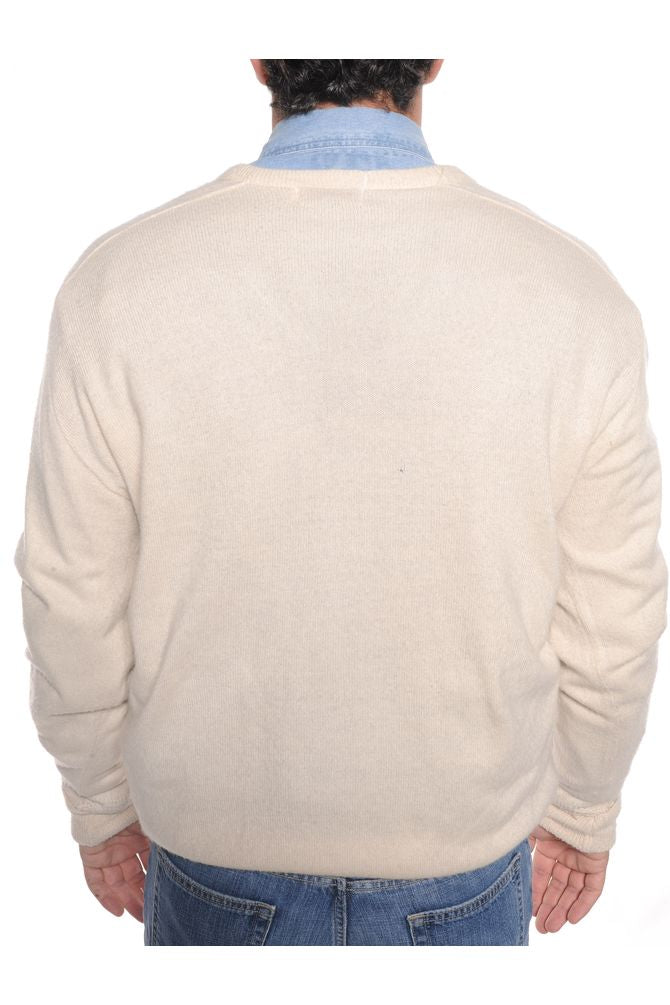 White Lacoste Sweater