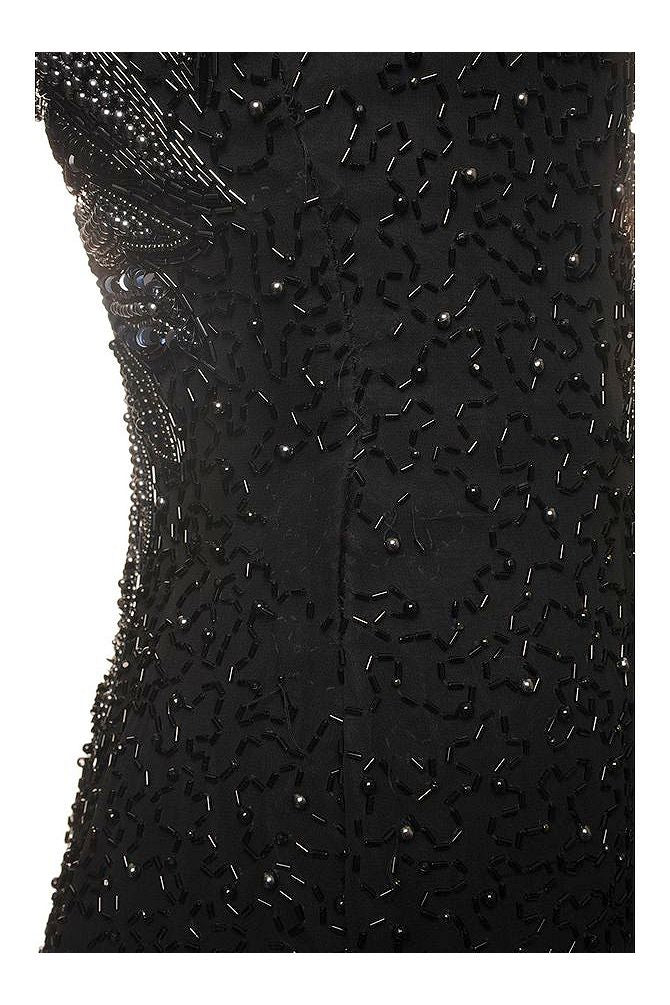 1980s Heavily Beaded Gown