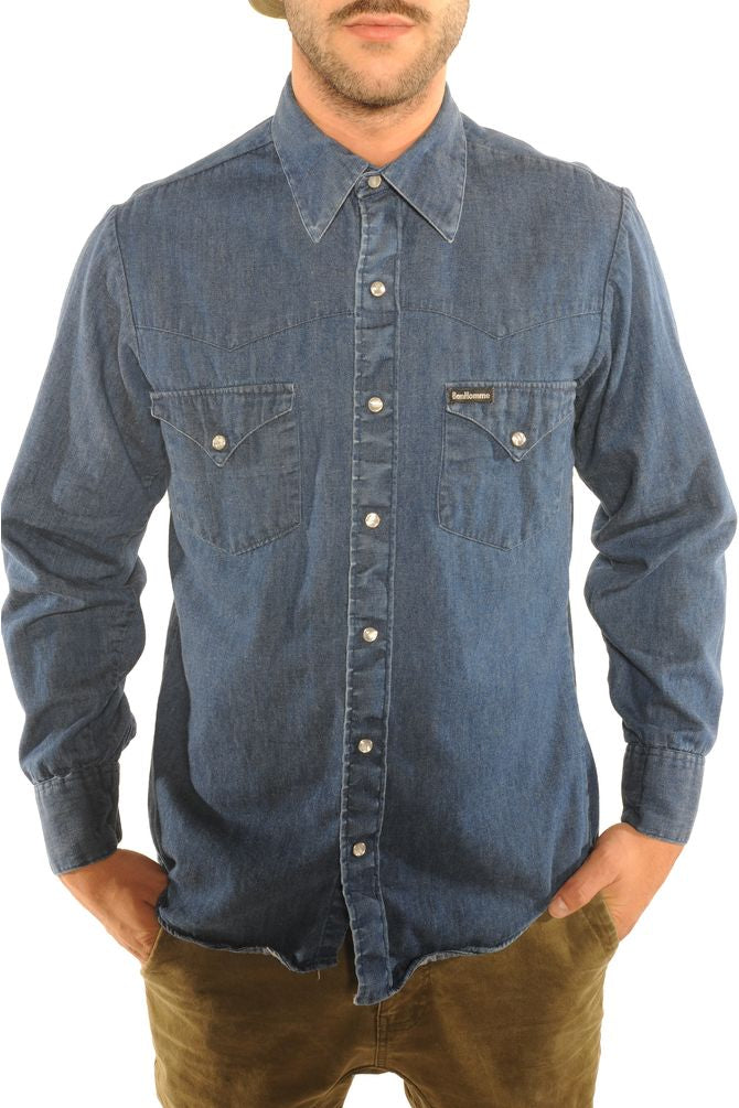 Pearl Snap Denim Shirt