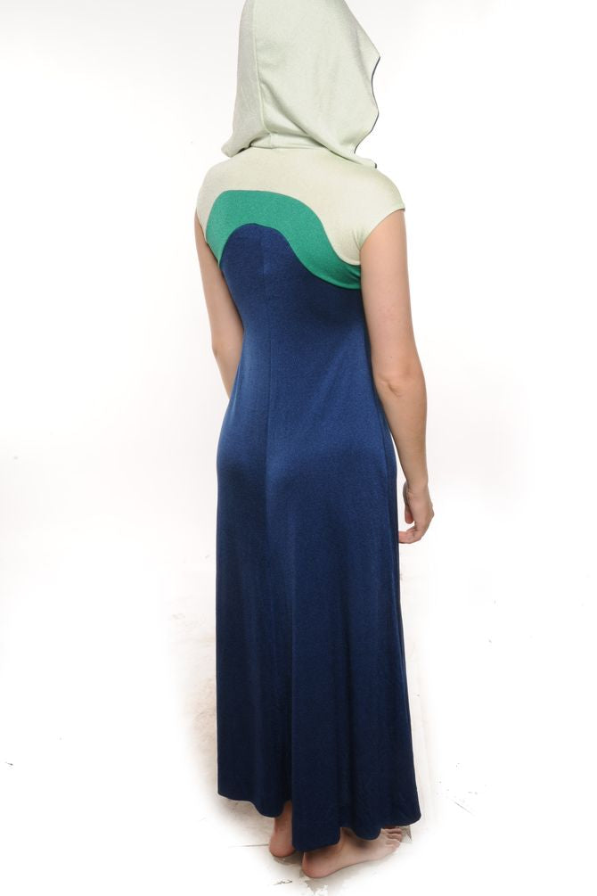 Navy Colorblock Maxi Dress