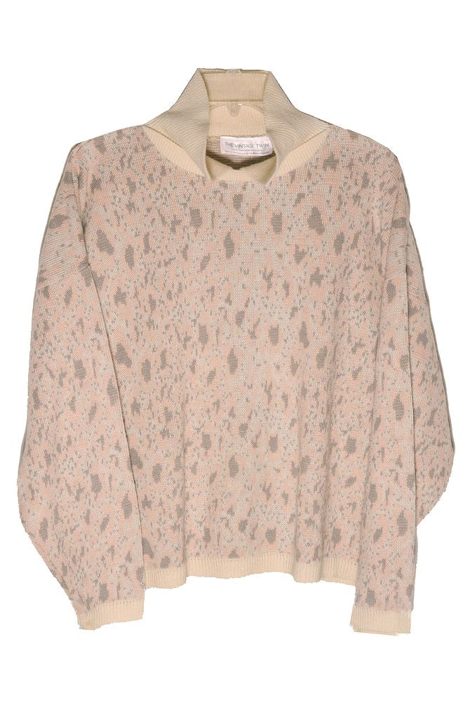 Pink Leopard Collared Sweater