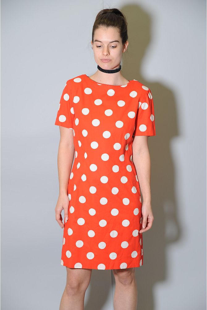 Orange Polka Dot Dress