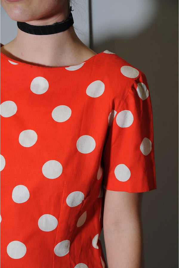 Orange Polka Dott Dress