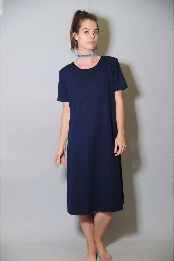 Navy Blue T-Shirt Maxi Dress