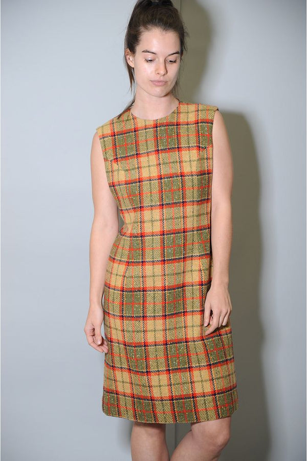 Plaid Wool Dress