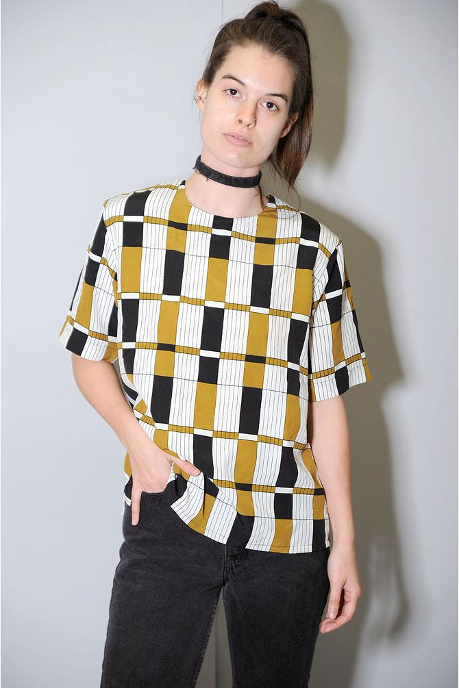 Boxy Geometric Blouse