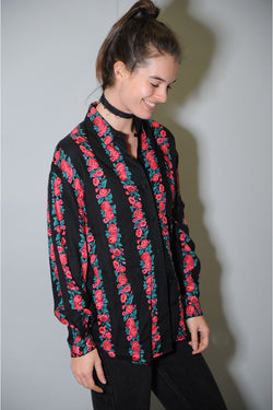 Black Rose Button-Up
