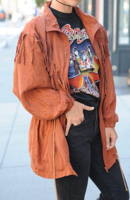 Silk Fringe Jacket