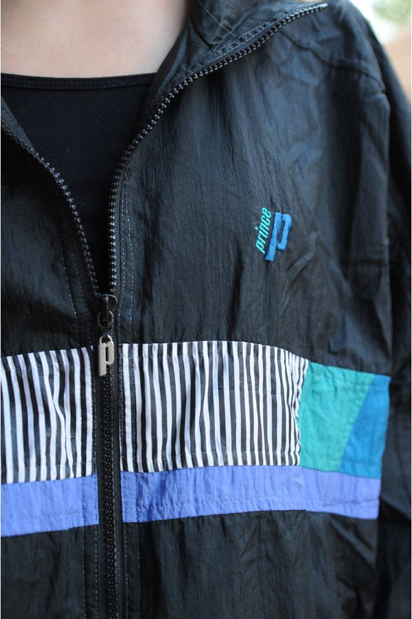 Prince Striped Windbreaker