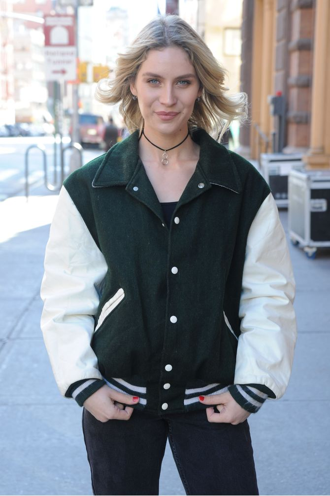Forrest Green Letterman Jacket