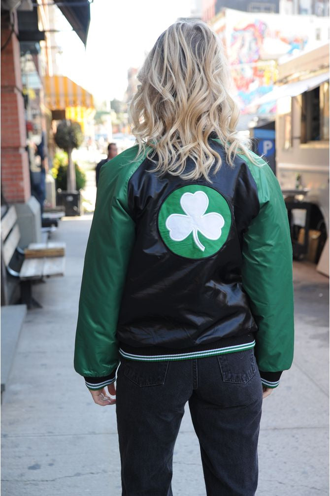 Nike Celtics Satin Bomber Jacket