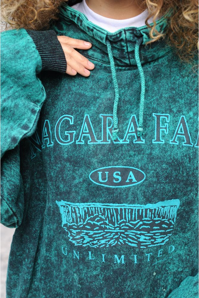 Niagra Falls Acid Wash Sweatshirt