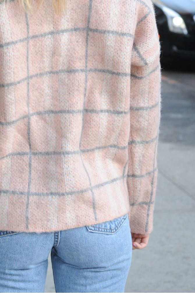 Pale Pink Grandpa Sweater