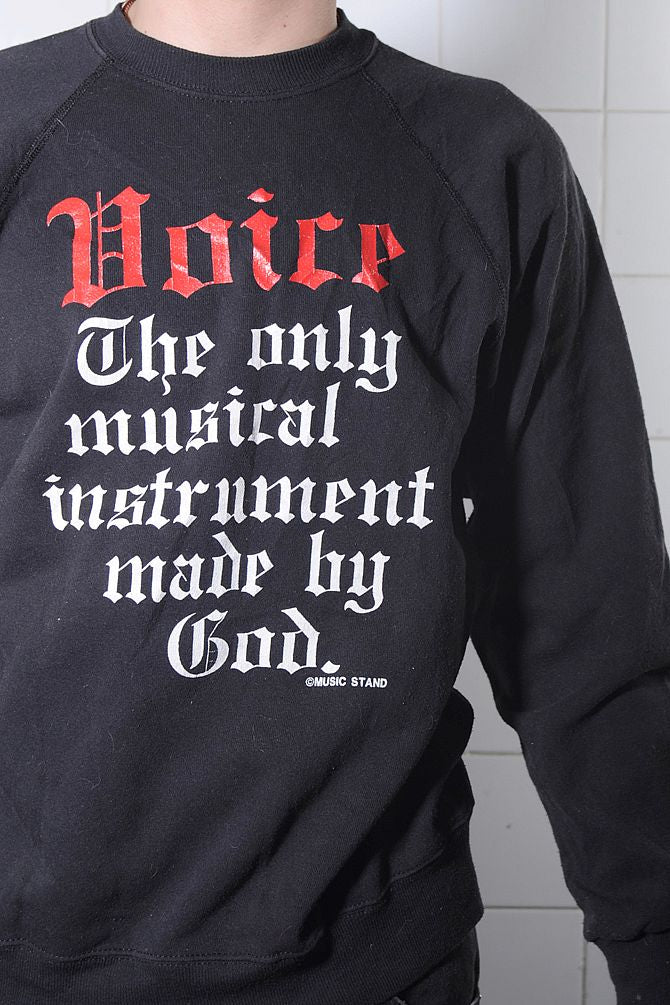 Black Voice Instrument Sweatshirt