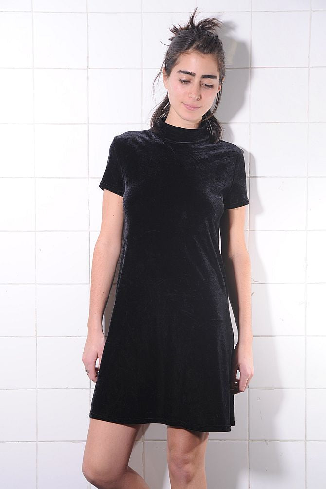 Black Velvet Mini Velvet Dress