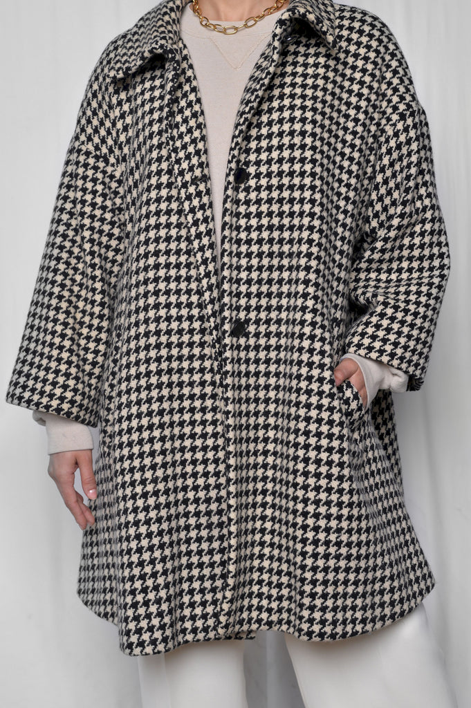 Byblos Houndstooth Wool Coat