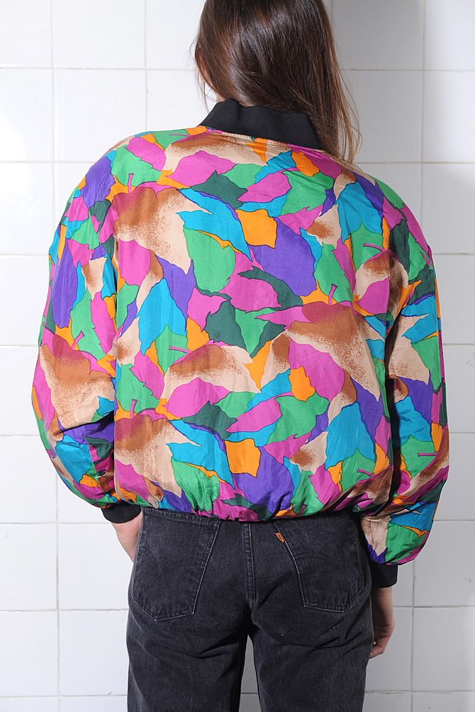 Vibrant Silk Windbreaker