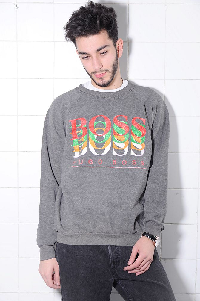 Gray Hugo Boss Sweatshirt