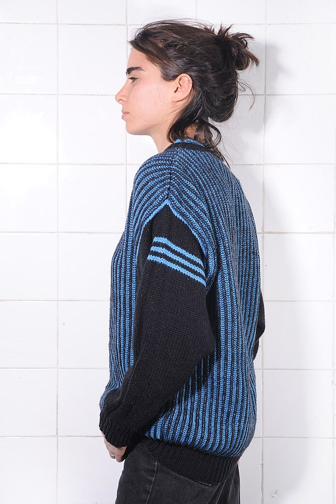Black and Blue Striped Sweater