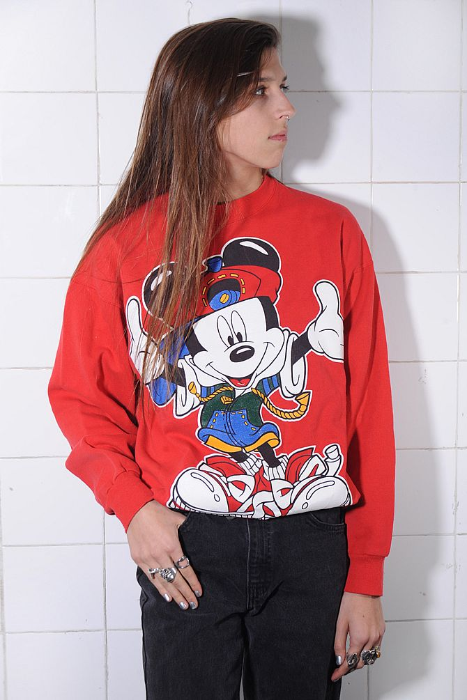 Red Mickey Mouse Sweatshirt
