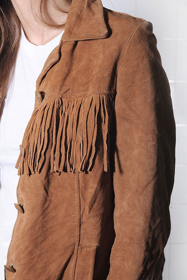 Brown Suede Fringe Jacket
