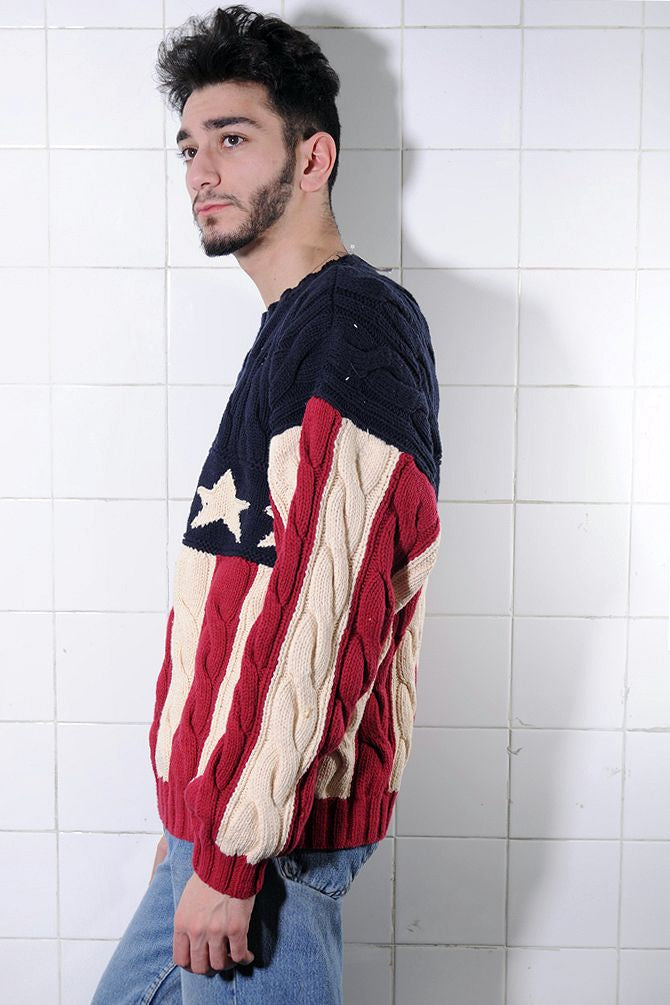 Tommy Hilfiger American Flag Sweater