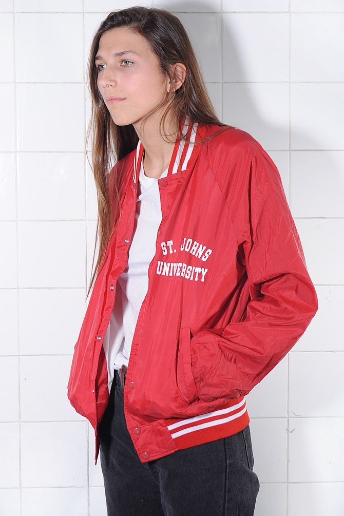 Red Letterman Jacket