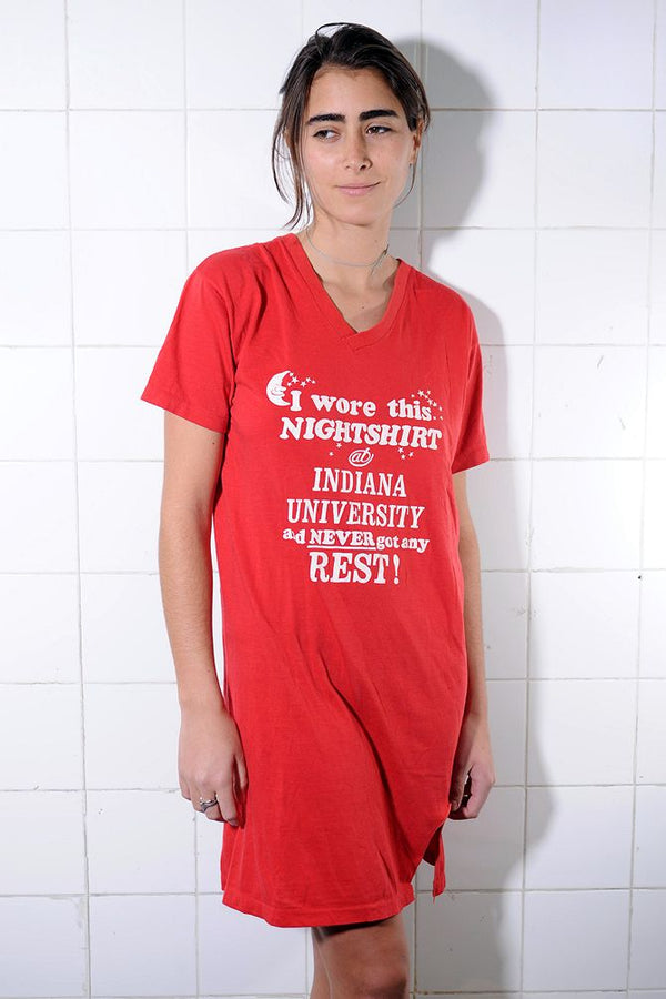 Red Indiana University Shirt Dress