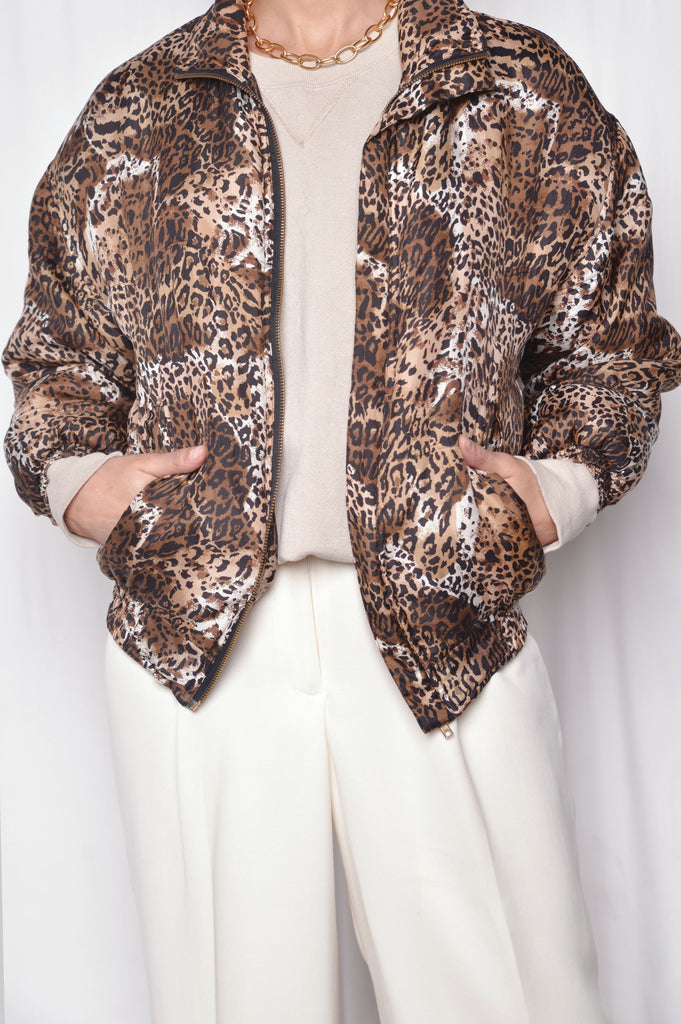 Silk Leopard Windbreaker