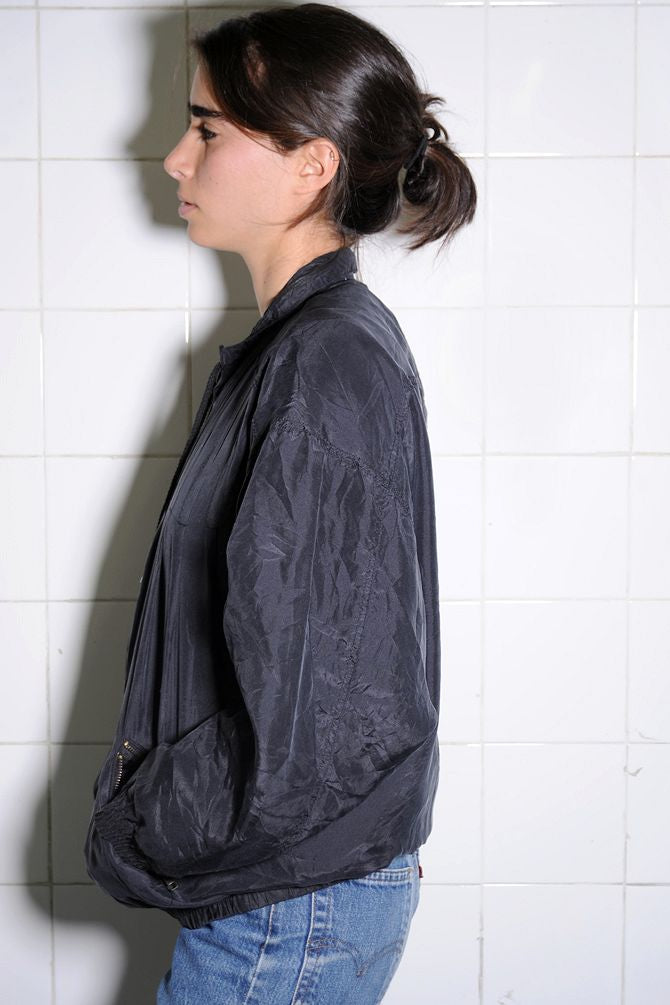 Silk Black Windbreaker