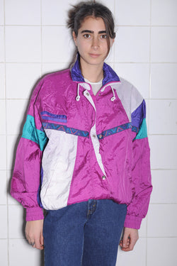 Fuchsia Colorblock Windbreaker