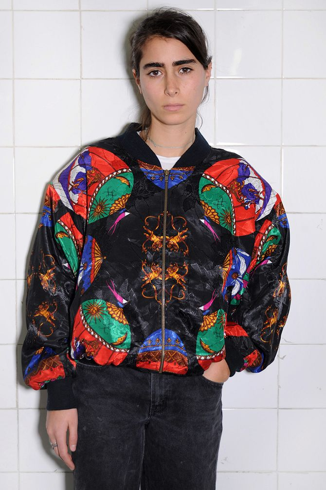 Black Kaleidoscope Bomber