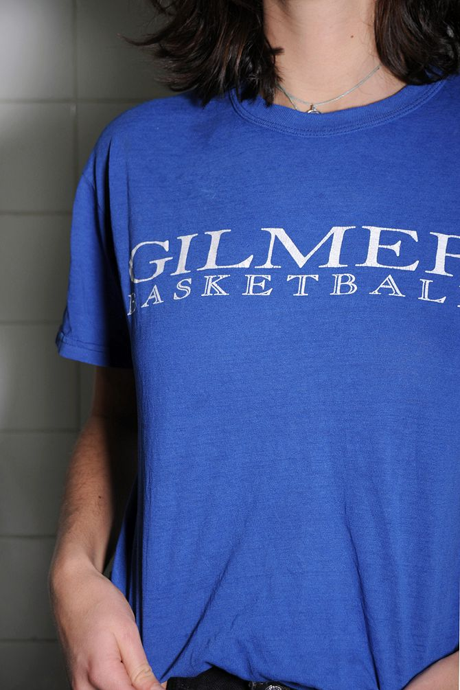 Blue Gilmer Basketball Tee