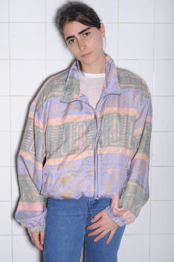 Pastel Silk Windbreaker