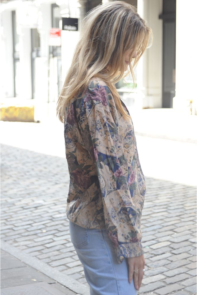Silk Floral Blouse