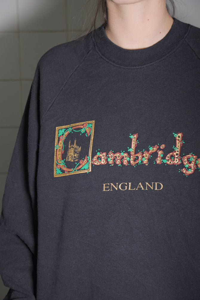 Black Cambridge England Sweatshirt