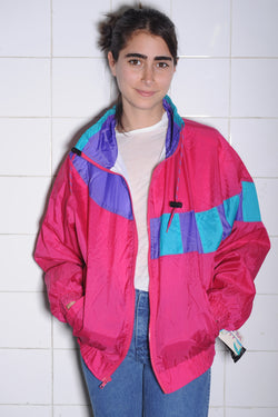 Neon Colorblocked Windbreaker
