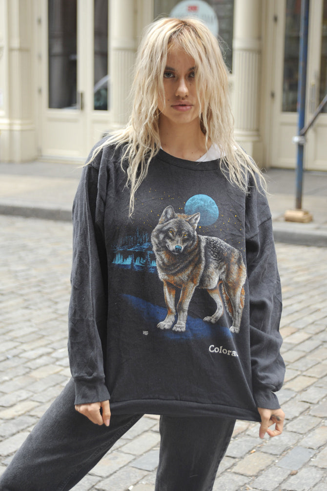 Black Colorado Wolf Sweatshirt